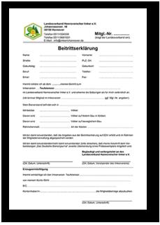 Beitrittserklärung Imkerverein